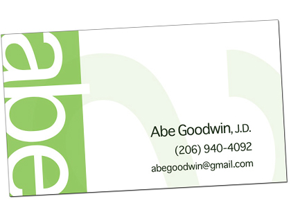 Abe Goodwin Business Cards