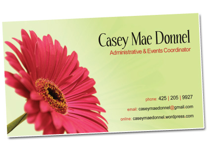 Casey Mae Donnel Business Cards