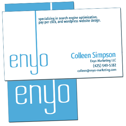 Enyo Marketing business cards
