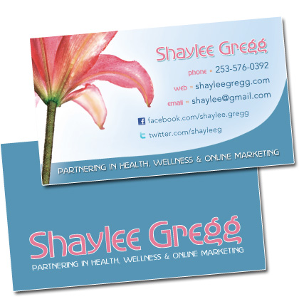 Shaylee Gregg Business Cards