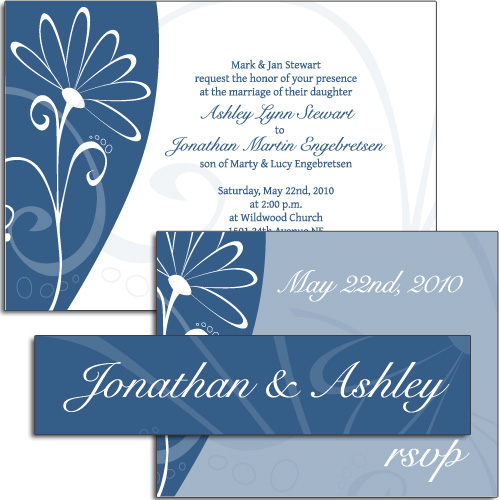 3-Piece Horizontal Wedding Invitation