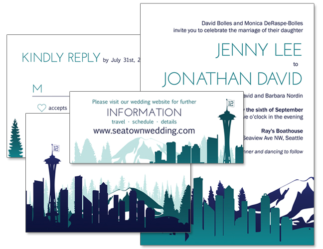 Seattle Wedding Invitation