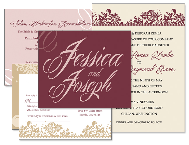 Jessica & Joseph Wedding Invitation