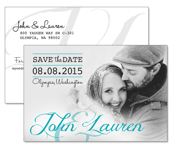 John & Lauren Save-the-Date Wedding Invitation