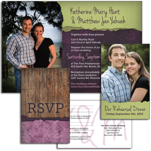 Katherine & Matt Wedding Invitation