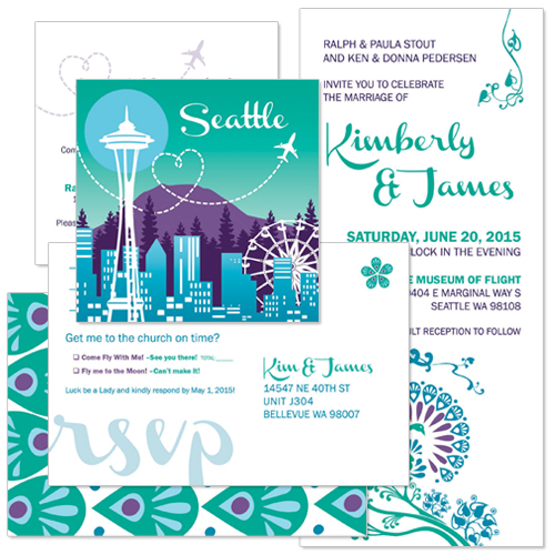 Kim & James Wedding Invitation