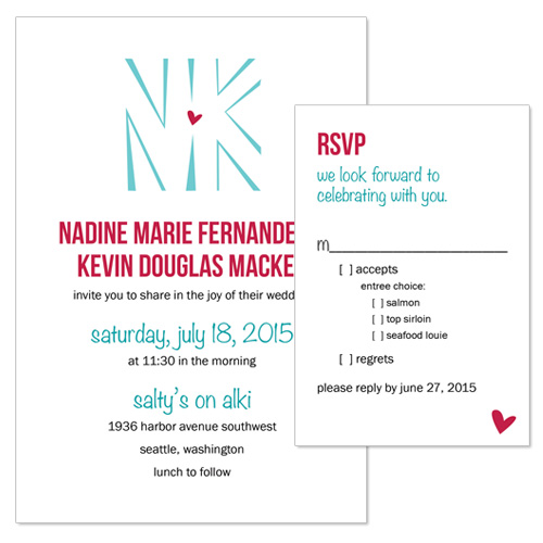 Nadine & Kevin Wedding Invitation